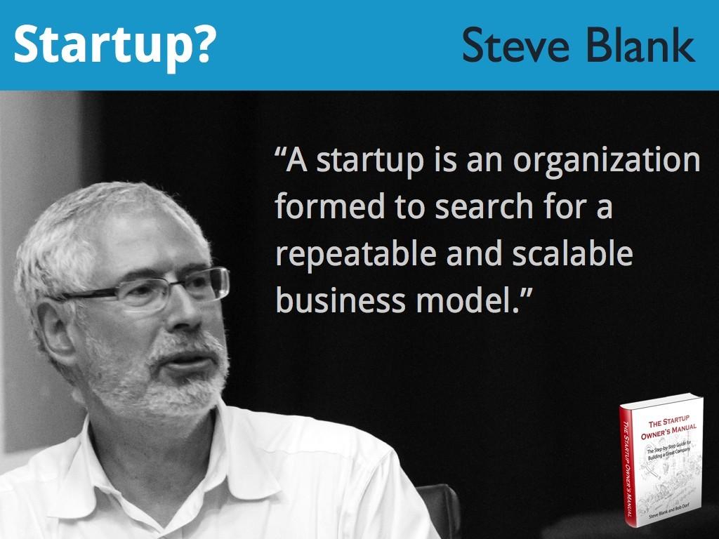 Steve Blank, akademisi dan entrepreneur di Silicon Valley.
